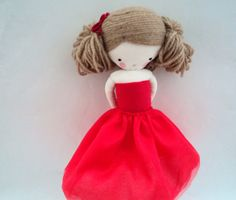 rag doll Marilyn plush toy cloth art doll от lassandaliasdeana