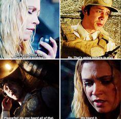 "#The100 2x12 ""Rubicon"" - Clarke and Bellamy"
