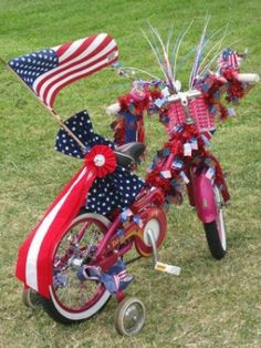 Decorate your bike for July 4th