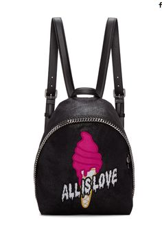 Stella McCartney Black Small Falabella  All is Love  Backpack Stella  Mccartney Bag d4b2f285f981e