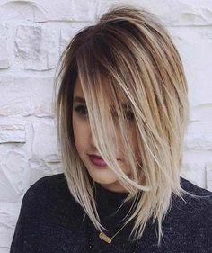 A-line bob straight medium length hair 2016