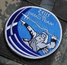 GREEK HELLENIC AIR FORCE HAF F-16 FIGHTING FALCON Zeús Δίας DEMO TEAM INSIGNIA