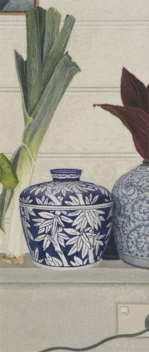 Cressida CAMPBELL - Bamboo pattern with leek - watercolour paint on stonehenge paper, 2009 Contemporary Australian Artists, Contemporary Art, National Art, Watercolor Paintings, Watercolours, Flower Paintings, Crayon, Woodblock Print, Painting Inspiration