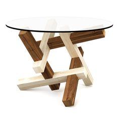 2x3 puzzle round coffee table  flat pack furniture door PRAKTRIK