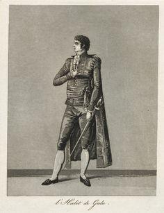 """Digitalt Museum - Gustaf III:s nationella dräkt/svenska dräkten. """"L'Habit de Gala"""". Herre i galavariant av hovdräkten. Akvatint trol. av Johan Abraham Aleander, 1780-tal."""