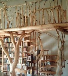 beautiful loft bed wild wood www. More- wunderschön Hochbett Wildholz www.holzatelier-k… Mehr beautiful loft bed wild wood www. Interior Design Your Home, Tree Interior, Tree Bed, My Dream Home, Diy Furniture, Bedroom Furniture, Home Improvement, Sweet Home, Room Decor
