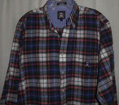 CINCH Men Plaid Western Cowboy Casual Shirt Sz M Medium Long Sleeve Green Purple #Cinch #ButtonFront #Cowboy #Western