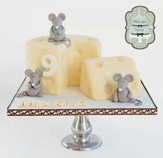 Mice and cheese cake by @miraquetarta