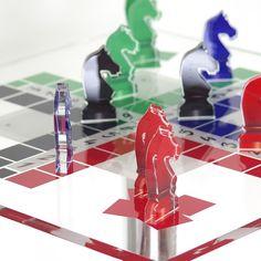 Table de Jeux Acrila Petit Chevaux Transparent. Veryluxuryshop.com