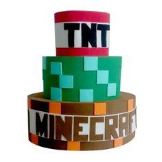 bolo fake do minecraft #bolodecorado #bolominecraft #festaminecraft Bolo Mine Craft, Minecraft, Bolo Fake, Cube, Cake Ideas, Whipped Cream, Decorating Cakes, Good Ideas, Fake Cake