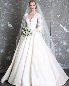 "Belle   Tulle Bridal on Instagram  ""Royal inspired bridal style ""Grace  Kelly"" long sleeves illusion V-neckline ballgown featuring La Vie en Rose  lace and ... 351a185cdb1e"