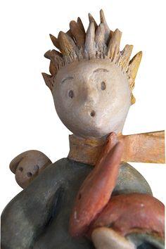 En cliquant sur ce lien vous allez recevoir la formation gratuite pour créer la sculpture du Petit Prince en argile http://mainsdanslaterre.com/formations/ #argilesanscuisson