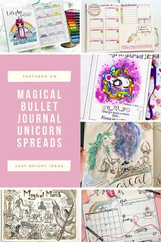 Magic up your bullet journal with one of these fabulous unicorn spreads and layouts.