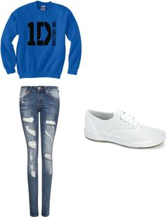 "I love it and the one shoe to go with it:)  ""One direction concert"" by momandhope ❤ liked on Polyvore"