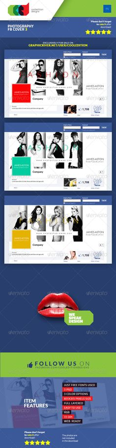 Photography Facebook Cover 3 — Photoshop PSD #business #fashion • Download here → https://graphicriver.net/item/photography-facebook-cover-3/6879423?ref=pxcr