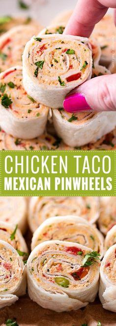 Chicken Taco Mexican Pinwheels