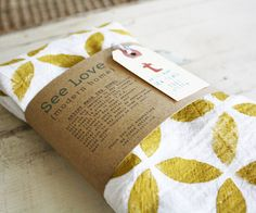 Geometric Mustard Hand Printed Tea Towel Huge von ShopAmySullivan, $18.00