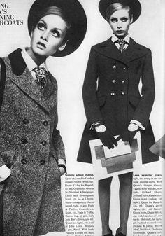 Twiggy. The overcoat and tie. Very punk rock. Yet still feminine.