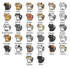 neko atsume cats names - Google Search