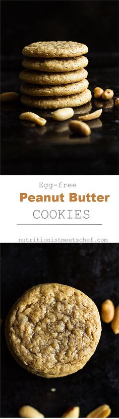 Egg free peanut butter cookies, using aquafaba as an egg replacer! Only 3 ingredients!