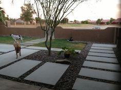 Cast in place concrete pavers