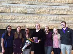 Dr. Norma Krumwiede (USA) receives Student Association Teacher of the Year at Minnesota State University, Mankato. #familynursing #familyhealth