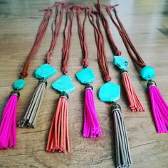 Jeri Vann Creations Customizable Leather Tassel Necklace