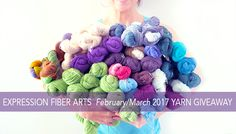 Expression Fiber Arts Yarn Giveaway! Enter now! Ends March 15th, 2017.