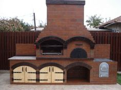 Gratar de curte caramida Bucuresti - imagine 1 Outdoor Kitchen Patio, Outdoor Oven, Outdoor Kitchen Design, Outdoor Rooms, Outdoor Living, Fire Pit Backyard, Backyard Patio, Foyers, Brick Bbq