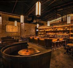 Wine barrel booths!