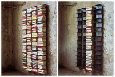 Ptolomeo Wall Bookcase - would like this and the single stand alone version also:)