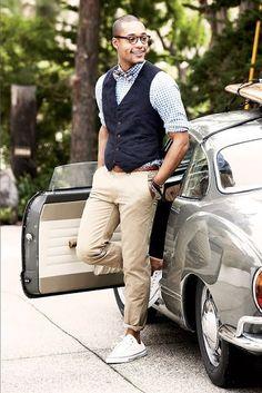 calça social masculina bege combina - Pesquisa Google