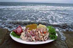 Photo by BigSam Peruvian Dishes, Peruvian Recipes, Fish Recipes, Healthy Recipes, Healthy Food, Recipies, Peruvian Ceviche, Around The World Food, Ceviche Recipe