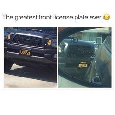 Greatest license plate ever – car meme