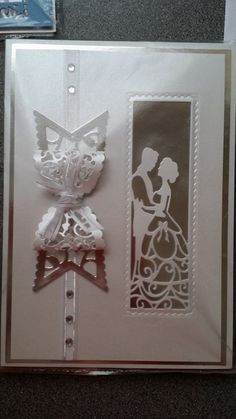 Silhouette dies 50th Anniversary Cards, Tonic Cards, Tattered Lace Cards, Wedding Cards Handmade, Spellbinders Cards, Engagement Cards, Card Making Inspiration, Love Cards, Paper Cards
