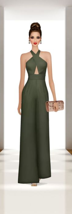Dress Clothes For Women, African Dresses For Women, Pants For Women, Prom Outfits, Chic Outfits, Fashion Outfits, Covet Fashion Games, Jumpsuit Dress, Elegant Outfit