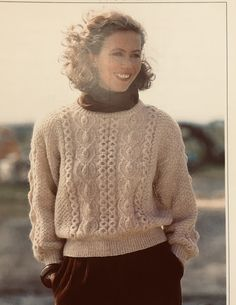 Excited to share the latest addition to my #etsy shop: 1990s Vintage Lady's Cable Sweater Knitting Pattern Cable Knitting, Vintage Knitting, Baby Knitting Patterns, Jumpers For Women, Sweaters For Women, Crochet Hats For Boys, Cable Sweater, 1990s, Vintage Ladies