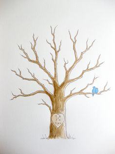 Fingerprint tree. I know you wanna do this... This one is cute