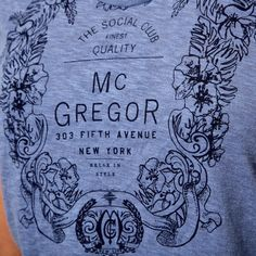 McGregor T-Shirt Suzy Crest