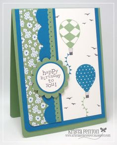 I love how this card turned out!  Up, Up and Away is one of my all time favorite sets.  I think I've loved all the cards I've made with this...