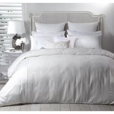 Peyton White  http://www.luxurylinen.co.nz/logan-and-mason-peyton-white-duvet-cover-set.html