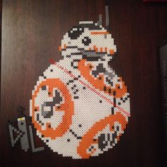 BB-8 Star Wars:The Force Awakens perler beads by Dark Link Designs