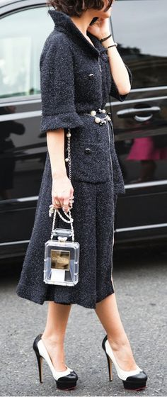 Classy - love that Chanel purse