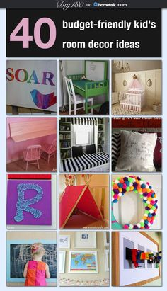 40 budget-friendly kid's room decor ideas