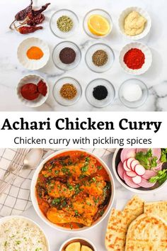 Learn how to make spicy, finger-licking North Indian Achari Chicken Curry at home using warm spices traditionally used for pickling. EASY Recipe with video! #ministryofcurry #chickencurry #instantpotrecipe Instant Pot Curry Recipe, Instant Pot Dinner Recipes, Delicious Dinner Recipes, Achari Chicken, Chicken Curry, Healthy Curry Recipe, Curry Recipes, Hottest Curry, Full Fat Yogurt