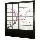 "83"" X 73.5"" Cherry Blossom Shoji Sliding Room Divider"