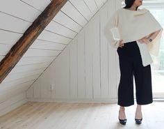 elegant look with black culottes