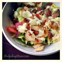 Chicken BLT Salad with Avocado Ranch Dressing recipe!