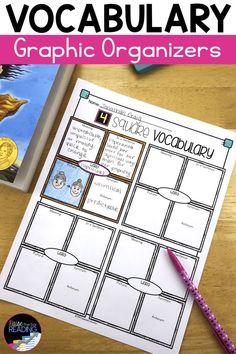Vocabulary Graphic Organizers   Vocabulary Activities   Vocabulary Template