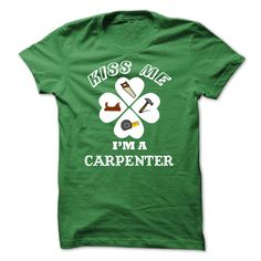 Carpenter Happy Saint Patrick Day T-Shirts, Hoodies. ADD TO CART ==► https://www.sunfrog.com/LifeStyle/Carpenter--Happy-Saint-Patrick-Day-27773360-Guys.html?id=41382